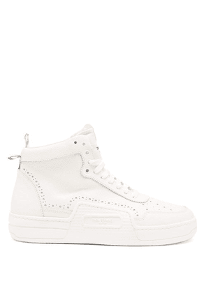Thom Browne - Basketball Perforated Leather High-top Trainers - Mens - White