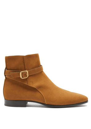 Tod's - Buckled-suede Ankle Boots - Mens - Tan