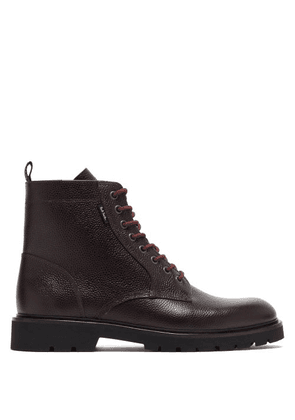Paul Smith - Fowler Grained-leather Boots - Mens - Dark Brown