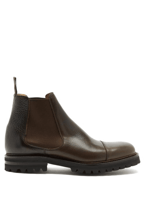 Church's - Ellingham Grained-leather Chelsea Boots - Mens - Dark Brown