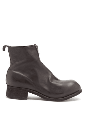 Guidi - Zip-front Supple-leather Boots - Mens - Black