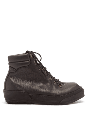 Guidi - Grained Leather Hiking Boots - Mens - Black