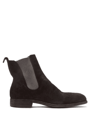 Guidi - Distressed Suede Chelsea Boots - Mens - Black