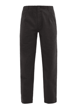 Folk - Assembly Straight-leg Cotton-twill Trousers - Mens - Black