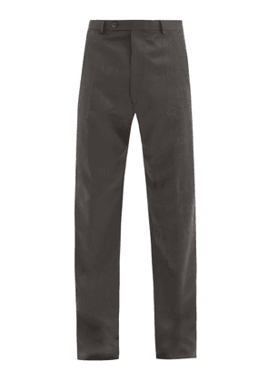 Martine Rose - High-rise Jacquard-woven Wool Trousers - Mens - Grey