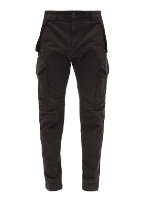 C.P. Company - Goggle-lens Cotton-blend Cargo Trousers - Mens - Black