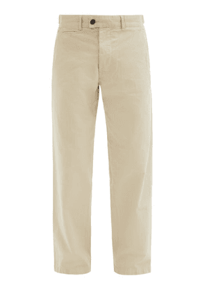 Albam - Cotton Chino Trousers - Mens - Cream