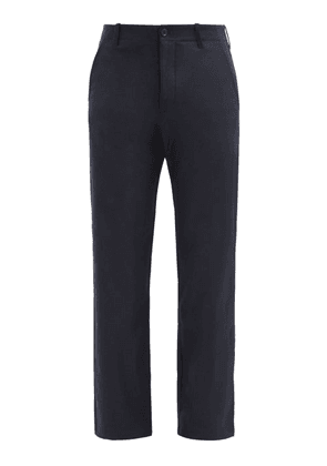 YMC - Padre Wool-blend Flannel Trousers - Mens - Navy