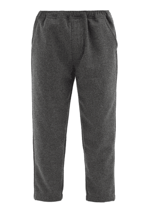 Albam - Cropped Wool-blend Trousers - Mens - Grey
