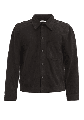 Our Legacy - Reincarnation Suede Overshirt - Mens - Black