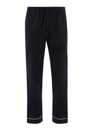 Desmond & Dempsey - Desmond Cotton Pyjama Trousers - Mens - Navy