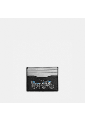Card Case With Horse And Carriage in Black