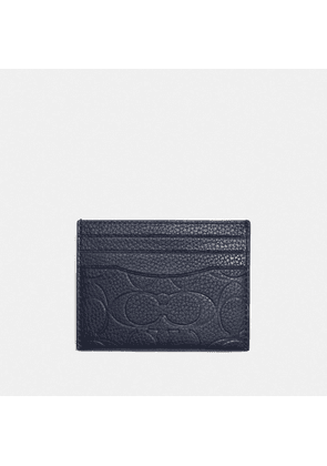 Card Case In Signature Leather in Blue