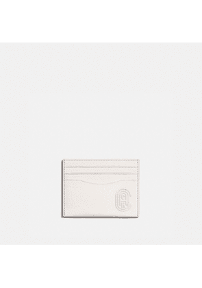 Card Case With Patch in White