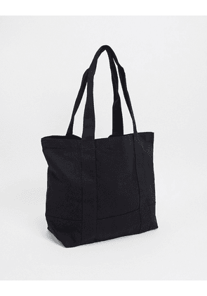 ASOS DESIGN heavyweight oversized tote bag in black canvas