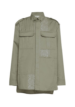 Rochas Embroidered Cotton-Blend Shirt