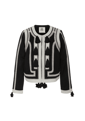 Figue Harrison Tasseled Embroidered Cotton Jacket