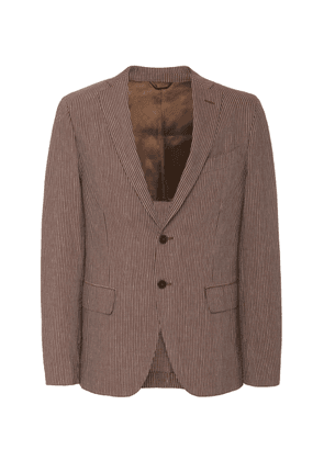 EIDOS Seersucker Two-Button Jacket