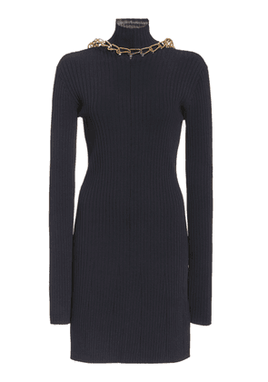 Dion Lee Chain-Detailed Ribbed-Knit Dress