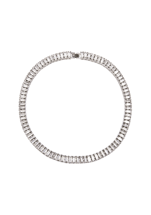FALLON Swag Crystal-Embellished Brass Collar Necklace