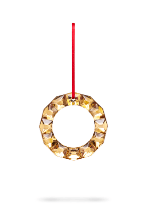 Baccarat Wreath Ornament 20K Gold