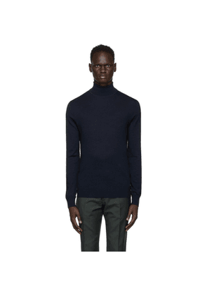 Tiger of Sweden Navy Wool Nevile Turtleneck