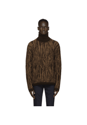 Tiger of Sweden SSENSE Exclusive Brown and Tan Zebra Dacres Turtleneck