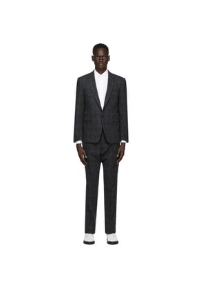 Thom Browne Grey Tattersall Check Classic SB Suit