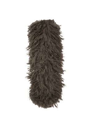 Dries Van Noten Brown Shaggy Scarf