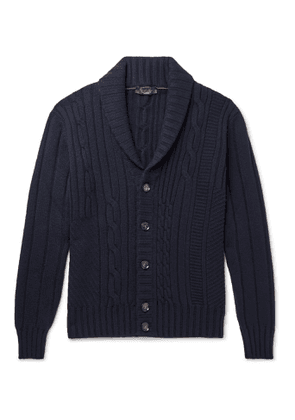 Loro Piana - Cable-Knit Baby Cashmere Cardigan - Men - Blue
