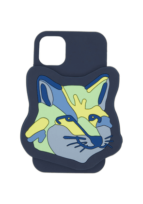 Maison Kitsune Navy Fox Head iPhone 11 Case