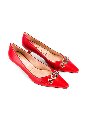 Gucci Low Heel Pumps in Heron Red - Red. Size 40 (also in 36,36.5,37.5,39.5).