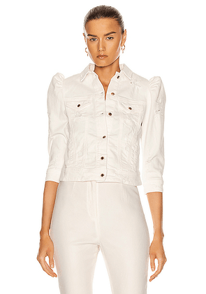 retrofete Ada Jacket in Vintage White - White. Size L (also in M,S,XL,XS).