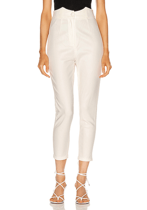 retrofete Tally Pant in White - White. Size S (also in XS).