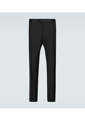 Wool and mohair formal pants