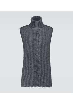 Wool and mohair sleeveless sweater