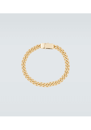 Rounded curb gold-plated bracelet