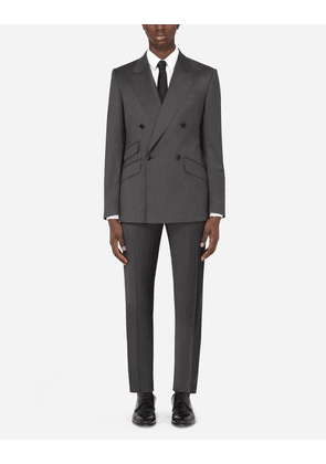 Dolce & Gabbana Suits - DOUBLE-BREASTED THREE-PIECE WOOL SICILIA-FIT SUIT MULTICOLOR male 54