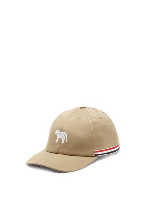 Thom Browne - Tiger-embroidered Cotton-twill Cap - Mens - Beige