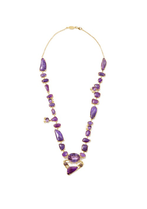 Daniela Villegas - Saraka Amethyst, Sugulite & 18kt Gold Necklace - Womens - Purple