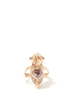 Daniela Villegas - Chameleon Diamond, Sapphire & 18kt Rose-gold Ring - Womens - Multi
