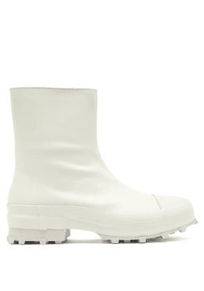Camperlab - Traktori Zipped Leather And Rubber Ankle Boots - Mens - White