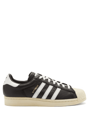 Adidas - Superstar Vintage Leather Trainers - Mens - Black Multi