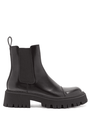 Balenciaga - Tractor Trek-sole Leather Chelsea Boots - Mens - Black
