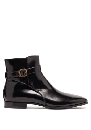 Tod's - Janeiro Buckle-strap Leather Boots - Mens - Black