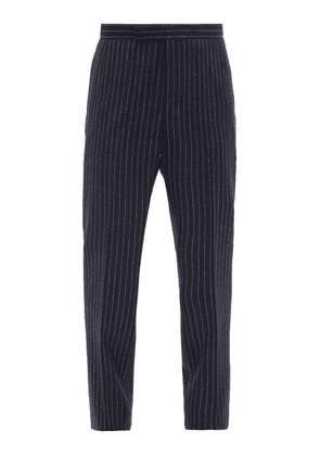 Thom Browne - Pinstriped Wool-flannel Trousers - Mens - Navy