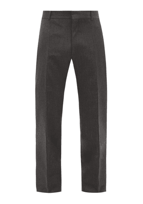 Alexander Mcqueen - Layered Wool-blend Slim-leg Trousers - Mens - Grey