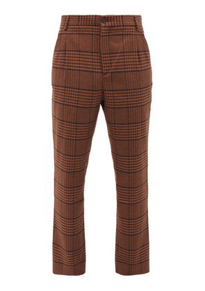 Nanushka - Tom Check Tweed Trousers - Mens - Brown Multi