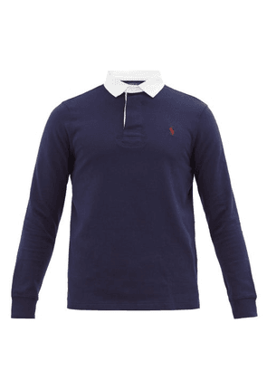 Polo Ralph Lauren - Logo-embroidered Cotton-jersey Rugby Shirt - Mens - Navy