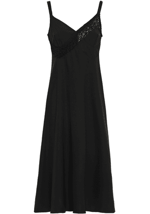 Beaufille Lace-trimmed Cady Midi Dress Woman Black Size 6